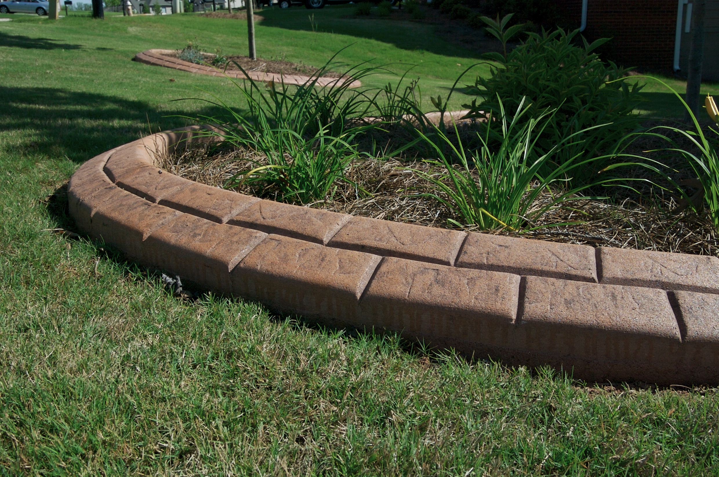 Innovative edging for Decorative stone garden border